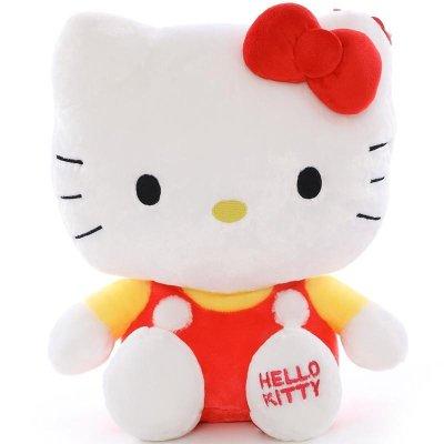kitty公仔凯蒂猫哈喽kt猫咪毛绒玩具娃娃可爱经典