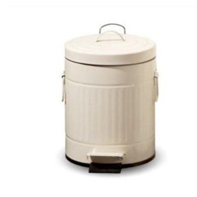 垃圾桶 12l 圆形手挽铁制钢脚踏翻盖卫生桶