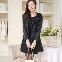 尚尔一韩版薄款风衣女中长款长袖修身 秋季女