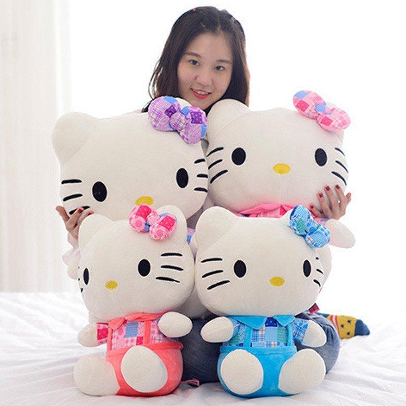 可爱凯蒂猫kt猫毛绒玩具抱枕玩偶布娃娃生日礼物粉色