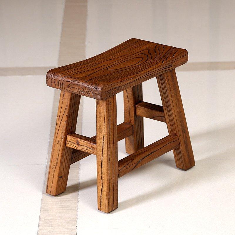 【椅子/凳子 】溪木工坊 北方老榆木小茶凳 全实木小