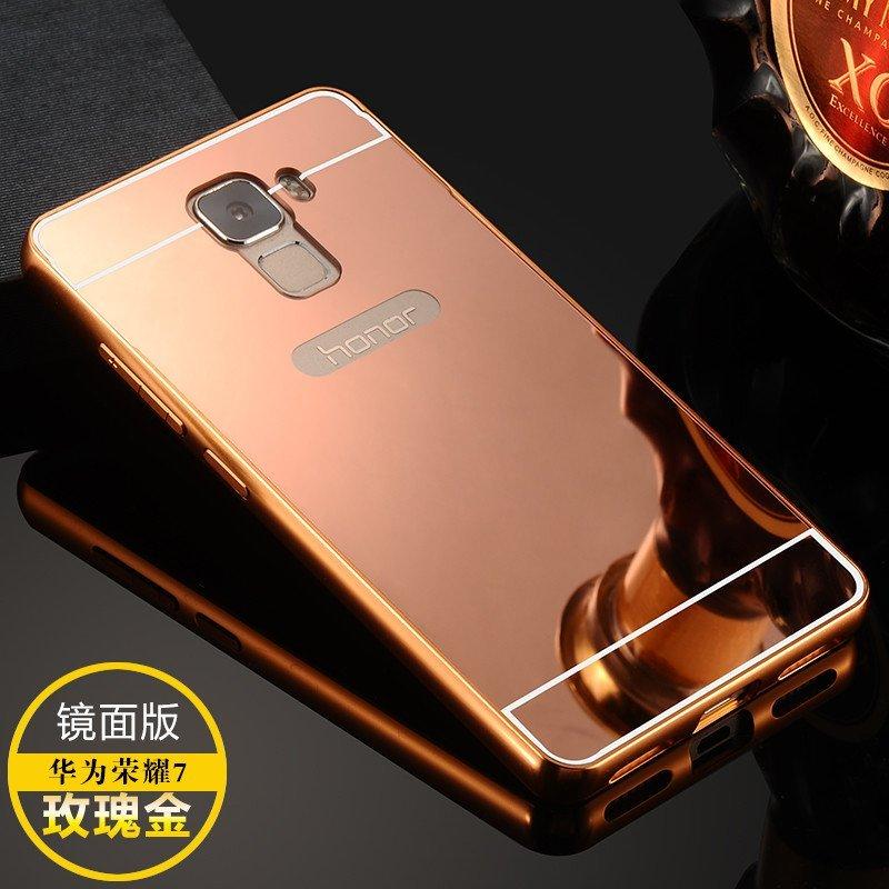 金属边框+镜面后盖】华为荣耀7手机壳