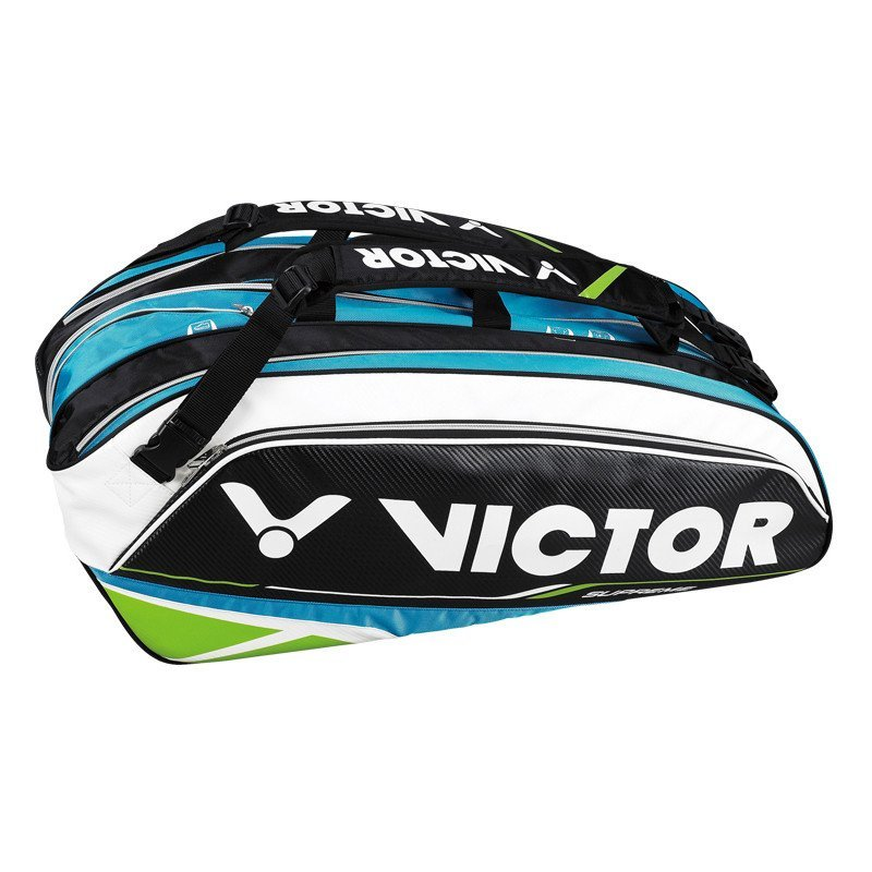victor/胜利 羽毛球包 br9302 威克多16支装双肩背羽毛球拍包 u蓝绿