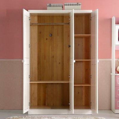 雅思洛欧式衣柜儿童衣柜三门衣柜板式衣柜组装衣柜衣橱儿童房家具 三