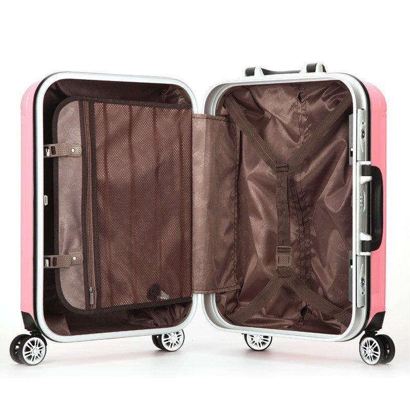 莫尔卡 拉杆箱万向轮20/24寸行李箱时尚静音旅行箱竖条纹男女密码登机