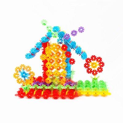 图宝宝环保塑料雪花片积木拼装儿童-转轮积木 正方形拼图积木