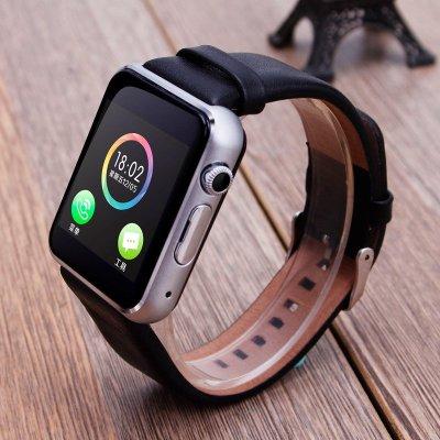 苹果s4腕表_智能手表手环手机电话手表插卡蓝牙手环苹果三星通用qq微信拍照腕表