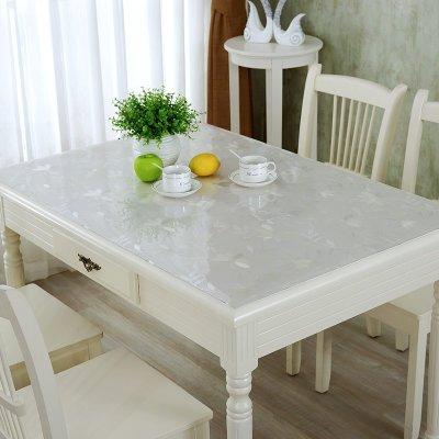 原色馨居 软玻璃桌布 防水防油 定制方桌圆桌花纹透明