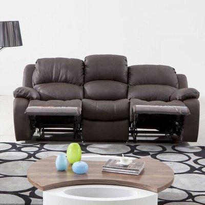 真皮沙发123客厅组合头等舱多功能可调节皮沙发小型