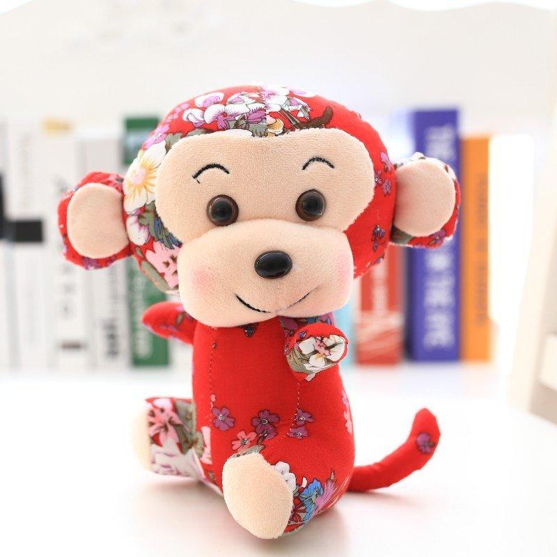 布艺猴卡通小猴子毛绒玩具公仔玩偶猴年吉祥物可爱布娃娃送女生日礼物