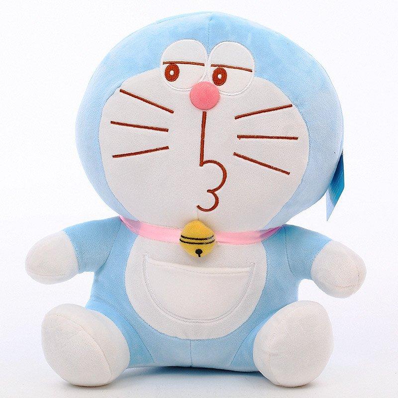 哆啦a梦机器猫叮当猫蓝胖子doraemon毛绒玩具公仔 16寸(40厘米) 调皮