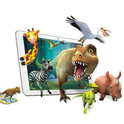 3d认知卡 ar立体儿童早教卡片看图识字卡片益智魔法口袋玩具动物园 3d