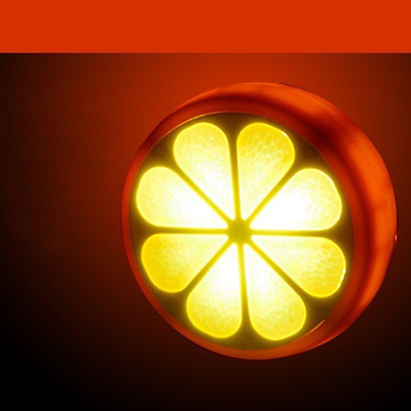 科技小制作橘子灯