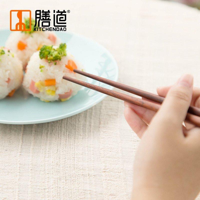膳道 儿童筷子 红酸枝 幼儿园宝宝学习筷 红木无漆无蜡高清实拍图