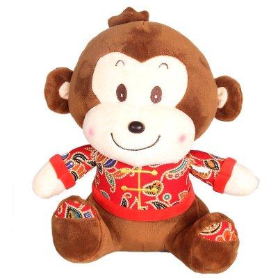 猴子公仔毛绒玩具情侣喜庆猴年吉祥物生日礼物公司年