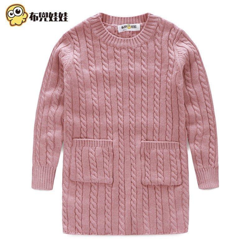 毛衣套头加厚圆领儿童打底衫中大童宝宝毛衣韩版童装