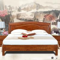 光明家具新品水曲柳全实木床1.8米双人床现代v新品家具无锡图片