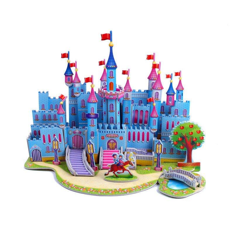 仿真3d纸模型梦幻城堡
