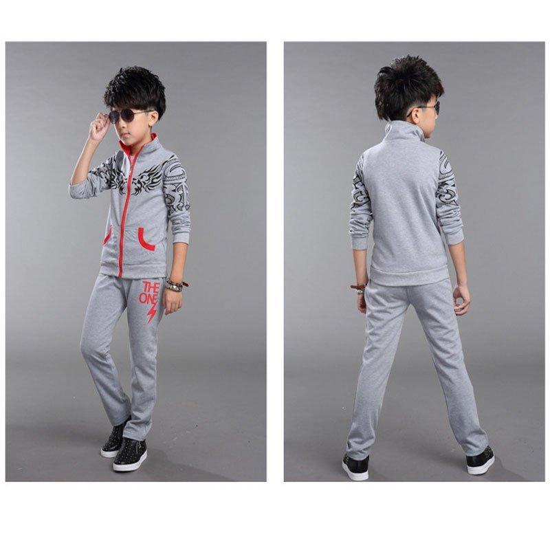 童_yh 春装童装男童套装春秋装儿童4岁5岁6岁--15岁中大童休闲运动龙图腾
