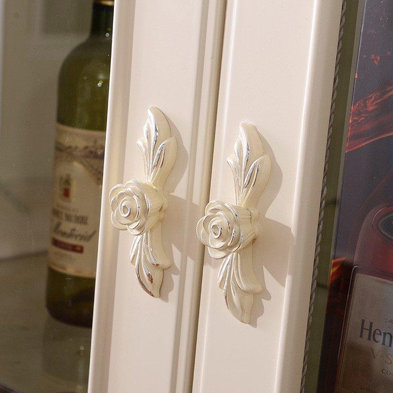 拉菲伯爵 欧式酒柜 单双门酒柜 高柜 隔断柜客厅角柜白色装饰柜 fk309
