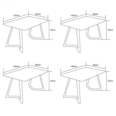 华居顺品 北欧宜家实木餐桌白橡木餐桌椅组合创意异型