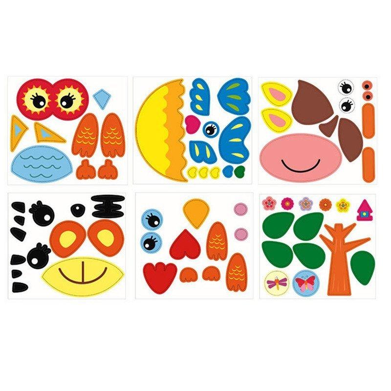 儿童手工制作纸盘狮子贴纸画幼儿园玩具