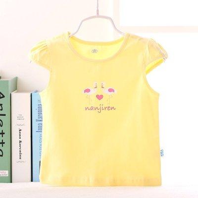 南极人女童夏季t恤儿童纯棉短袖t体恤婴幼儿夏装可爱上衣休闲百搭