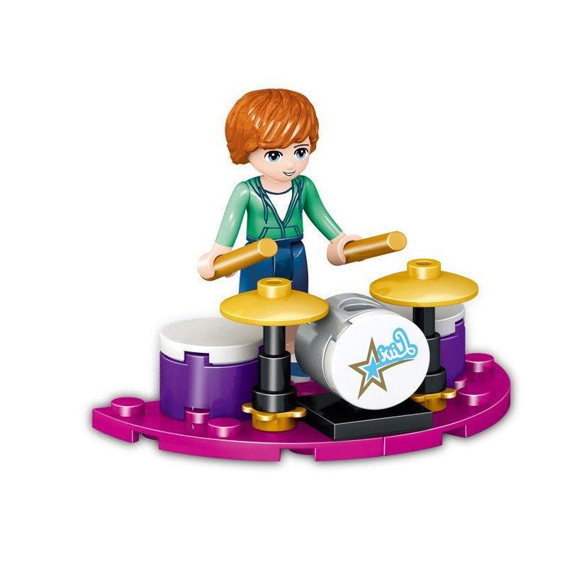 frends女孩系列 益智拼装 塑料小颗粒 人偶公仔 积木玩具 架子鼓
