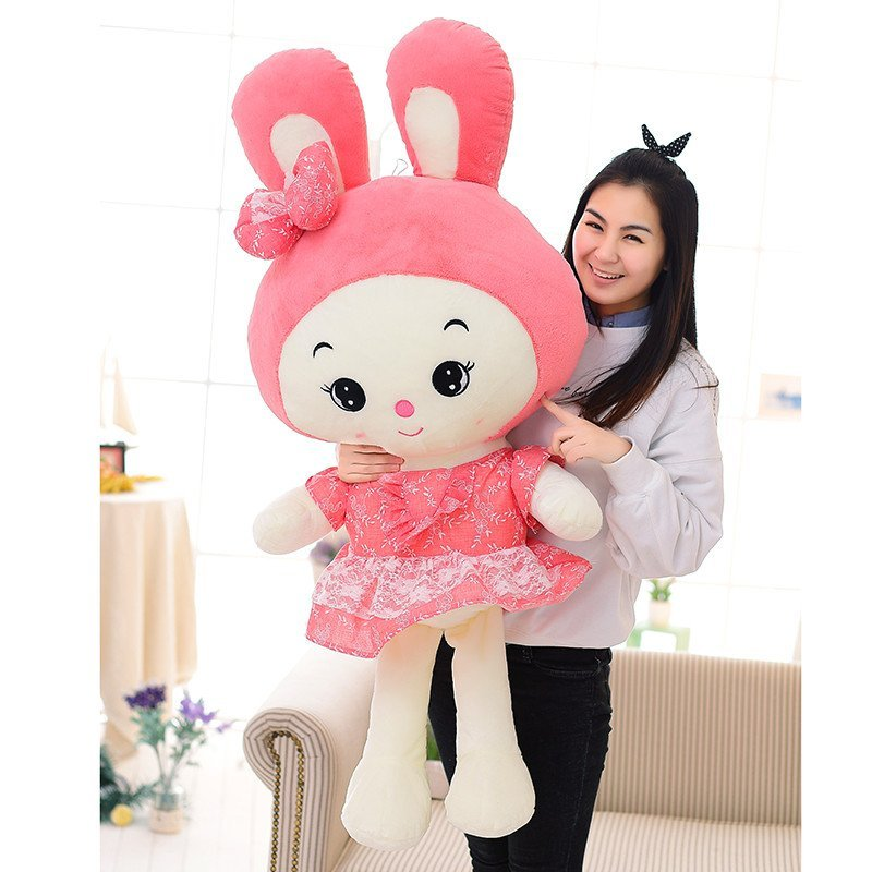 可爱公主兔公仔 love兔公仔 抱抱兔蕾丝裙美人兔 毛绒玩具布娃娃玩偶