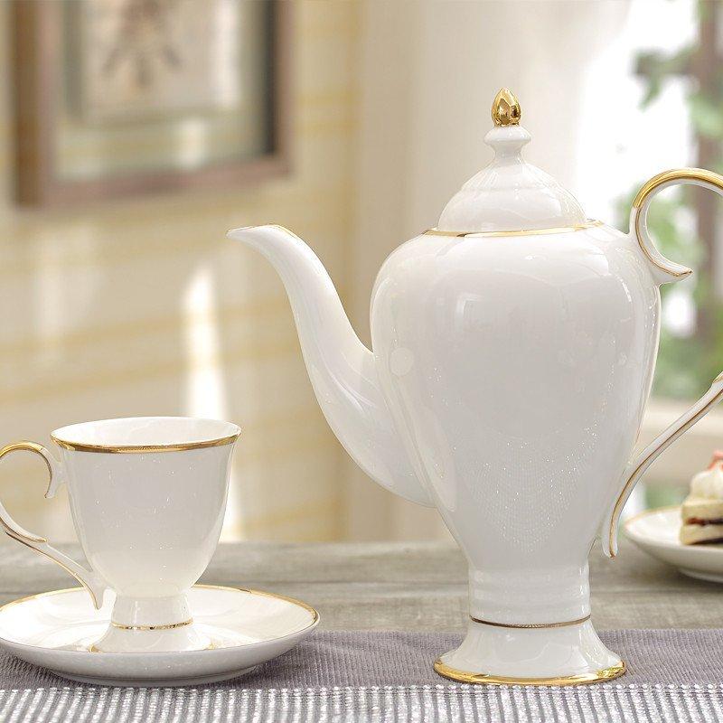 高档陶瓷咖啡具带托盘欧式茶具英式下午茶茶具茶壶茶杯咖啡杯套装 11