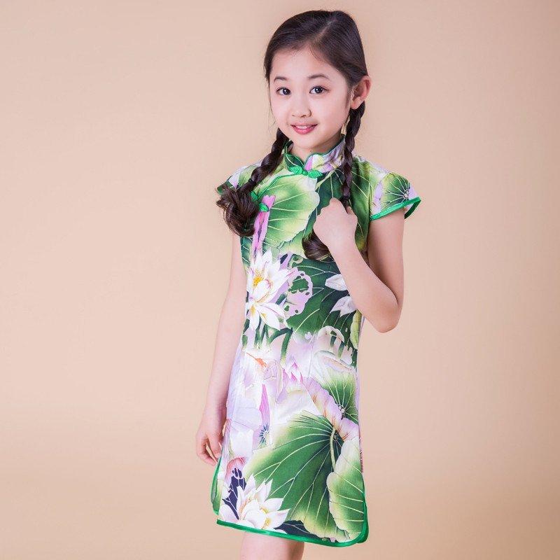【伊花裳语系列】YH宝宝女童旗袍裙唐装礼服autocad中a4模板图纸图片
