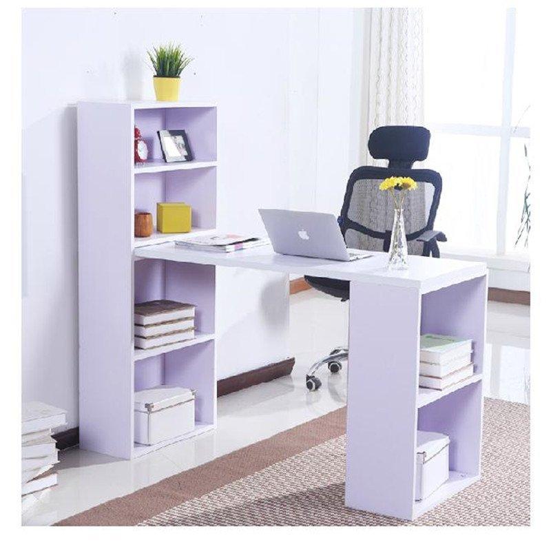 苏鼎简约台式电脑桌 办公桌 写字桌 儿童学习桌 书桌 带书柜电脑桌