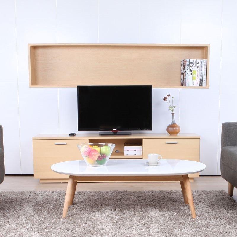 奥德电视柜 简约现代客厅背景墙小户型实木