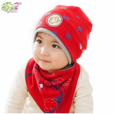 小西家作婴儿帽子 宝宝帽子 三角巾套帽春秋男女儿童帽子 其他 老虎贴