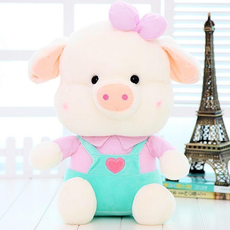 悦达 毛绒玩具小清新背带猪可爱特大号麦兜猪公仔布娃娃玩偶生日礼物