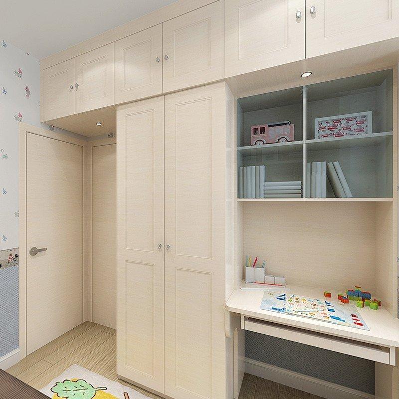 sogal索菲亚 衣柜 现代简约风格 木质榻榻米书柜顶柜儿童房整体组合