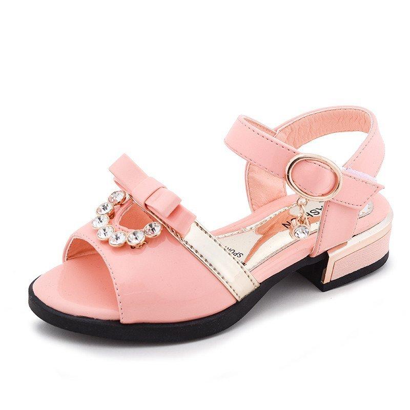 【梦女童系列】儿童水钻凉鞋鞋女生童鞋公主女14aj工场图片
