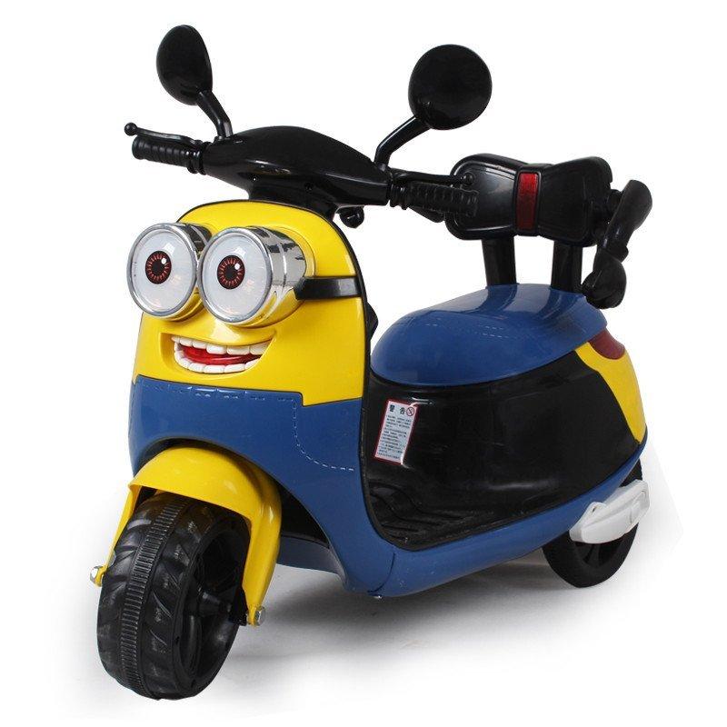 小黄人儿童电动摩托车三轮车儿童电动车童车可