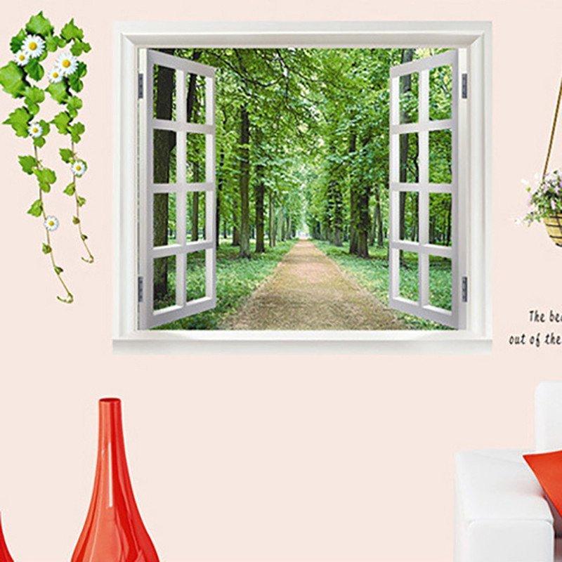 恋美 卧室客厅房间3d墙贴纸 床头墙壁电视墙贴画 温馨浪漫电视墙装饰