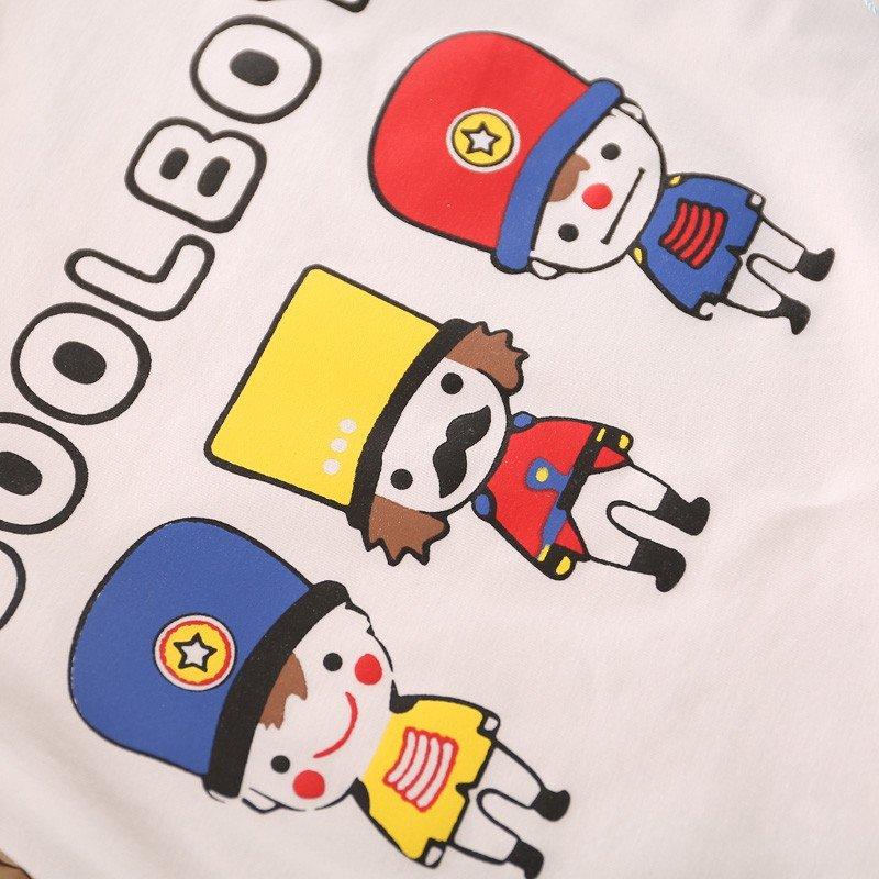 男女宝宝夏薄款套装卡通小士兵套装 90cm(建议18-24个月) 蓝色高清图片