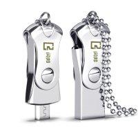 闪邦 小公主纯银色 手机电脑u盘16g 两用双插头