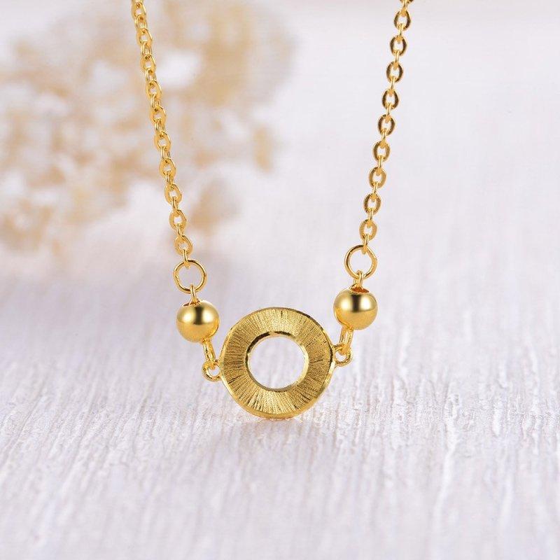 中国黄金-足金首饰简约圆环黄金项链 5.57克