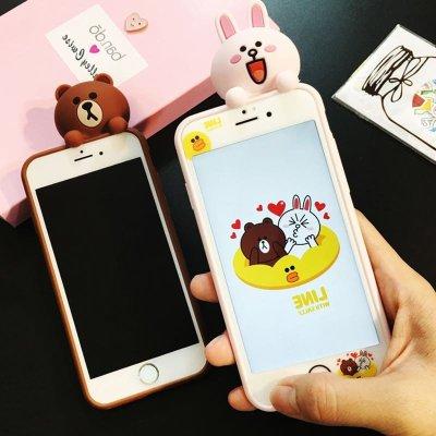亿城(yicheer)iphone韩国苹果6s手机壳卡通plus保护套