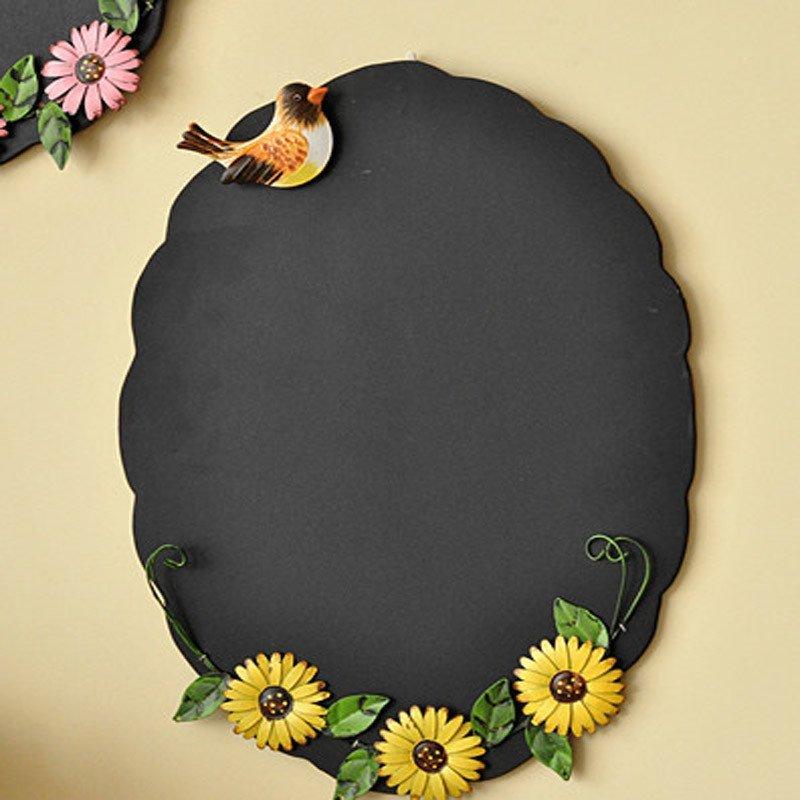田园风格 小鸟蝴蝶 壁挂黑板 留言板 服装店咖啡厅陈列道具高清实拍图
