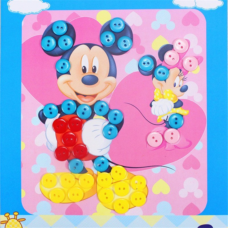 众慧宝 diy纽扣画 儿童手工制作幼儿园粘贴画装饰画玩具 王子款 海绵