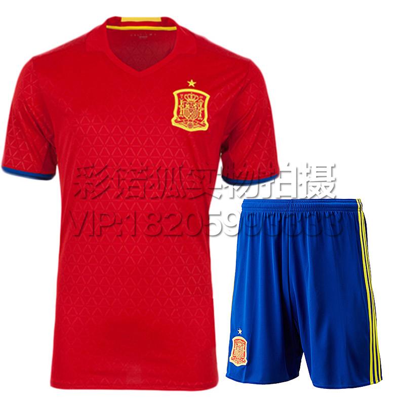 【尤萨系列】西班牙主场客场短袖足球衣2016