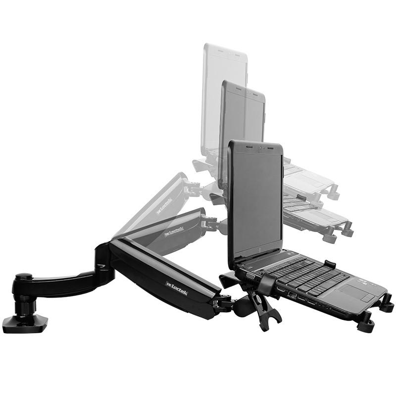 乐歌笔记本电脑支架 桌面升降旋转增高托架 带usb风扇散热器支架底座