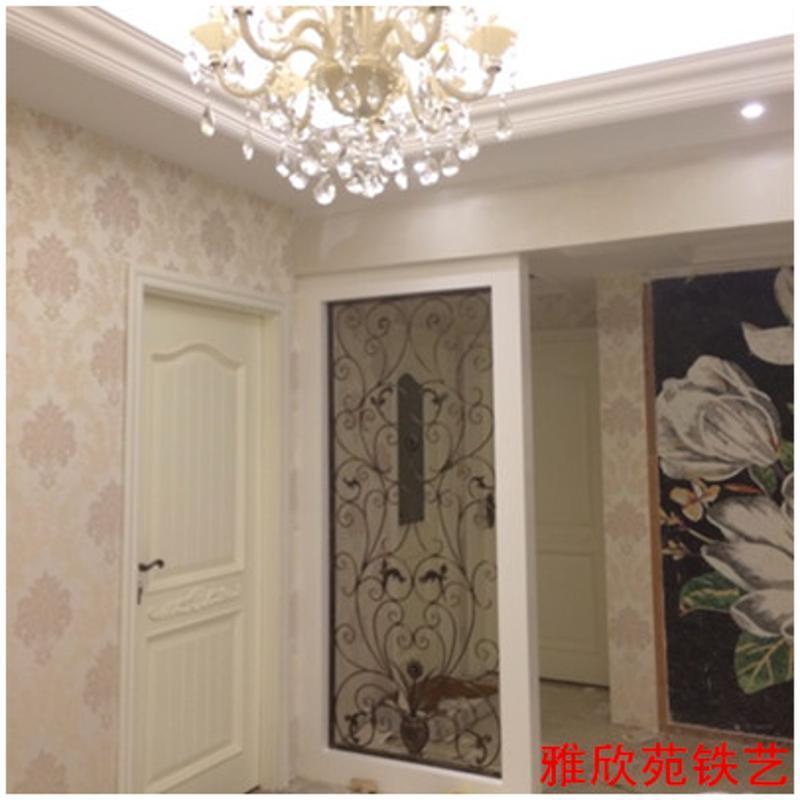 唐傲 欧式铁艺拱形隔断屏风弧形玄关 花格装饰窗花入户客厅隔断定制