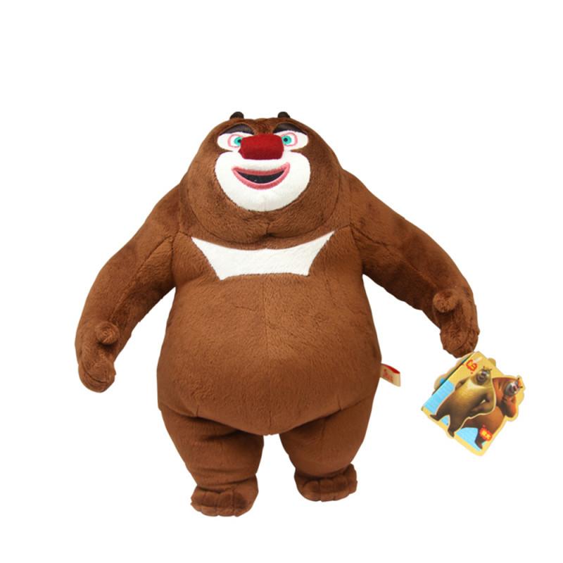 标准版 熊大熊二光头强三件套装毛绒公仔 可爱礼物 请参照详情 熊出没
