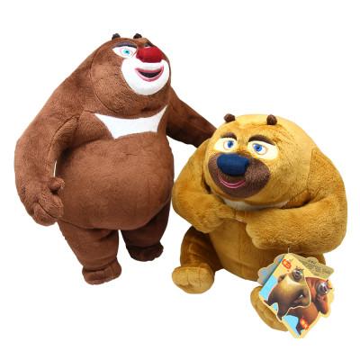 标准版 熊大熊二光头强三件套装毛绒公仔 可爱礼物 请参照详情 熊大熊